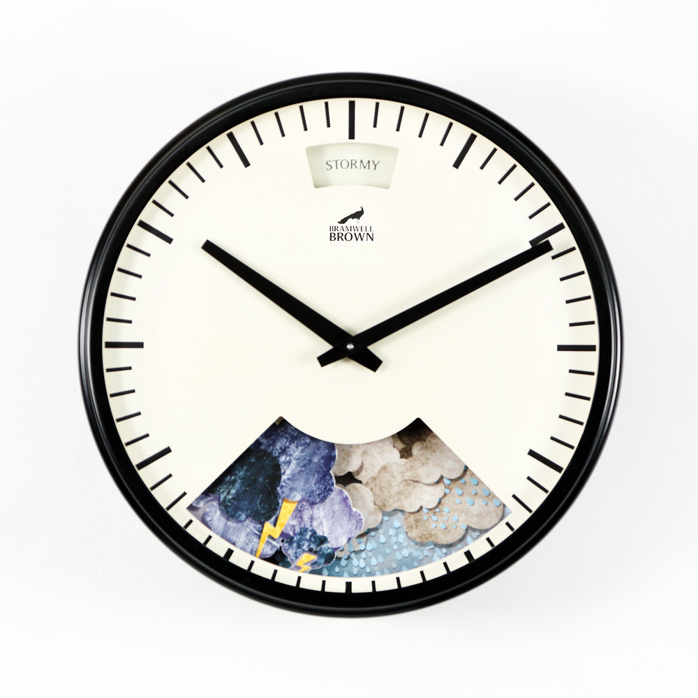 Black Weather Clock