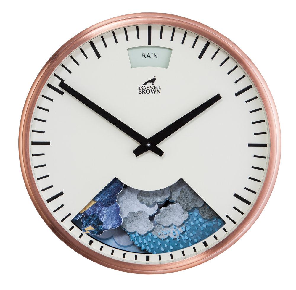 Copper Weather Clock