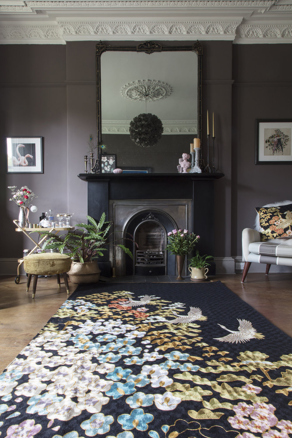 Wendy's Mount Orient rug in the Home of Fiona Cameron @around_houses
