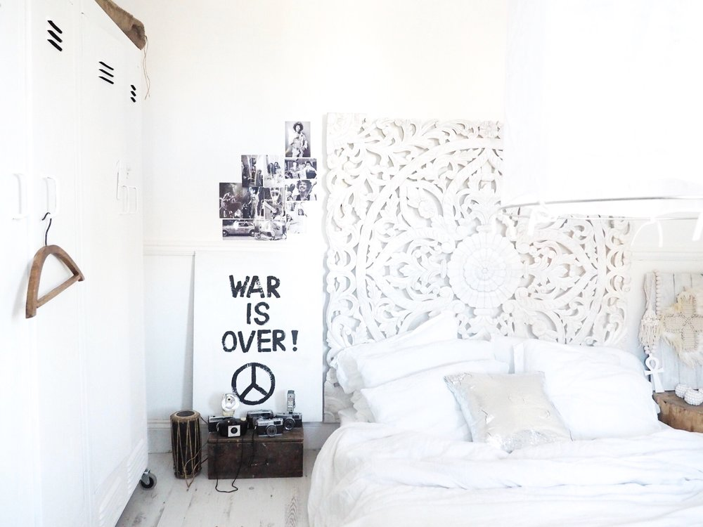 "Kate made the ""War is Over"" print herself. head on over to  Revamp Restyle Reveal  to find out more"