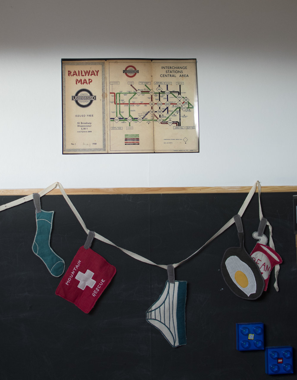 A vintage tube map from eBay. Bunting from Loaf