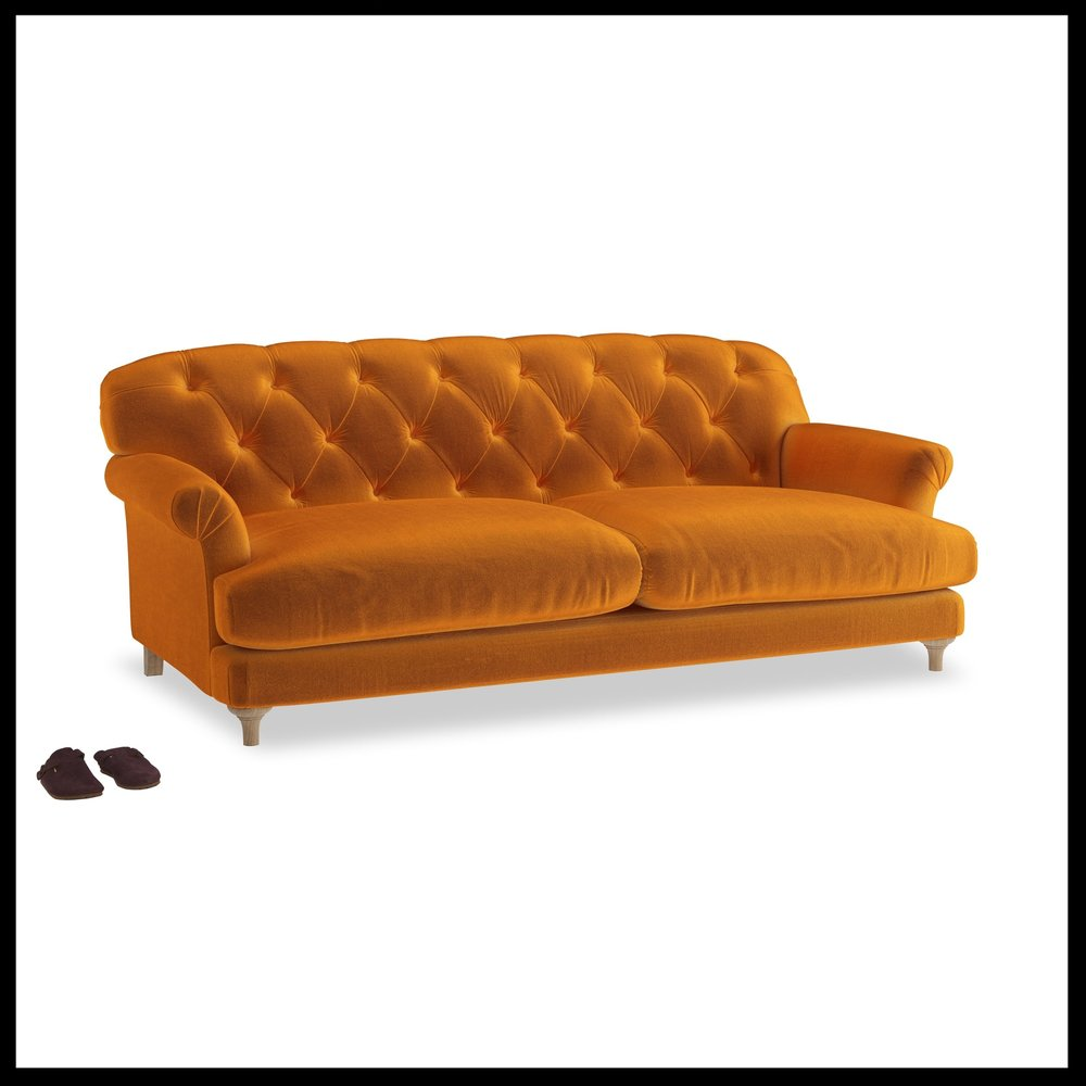 Loaf - Truffle sofa in Burnt Orange Plush Velvet £1495.jpg