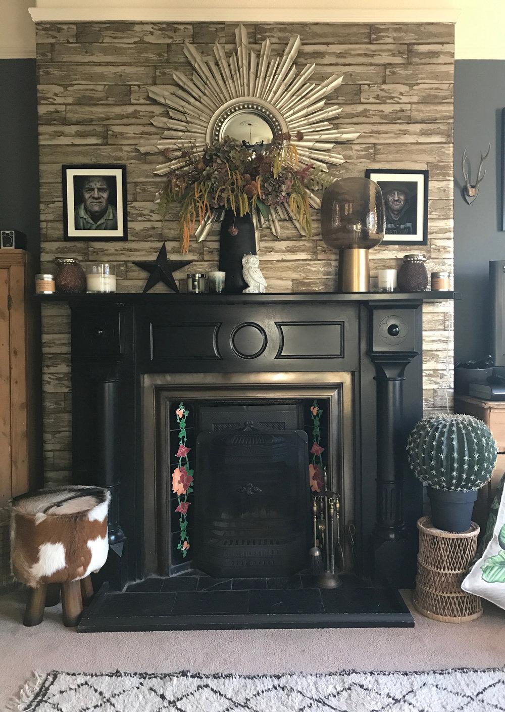 My Fireplace pre-christmas decor