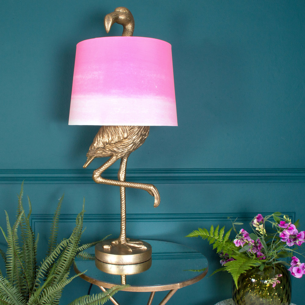 Audenza- Brass Flamingo Table Lamp - Ombre Shade £125..jpg