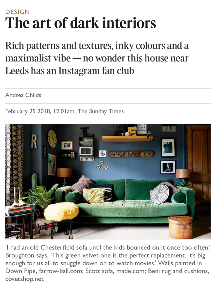 See My home featured in the Sunday Times -