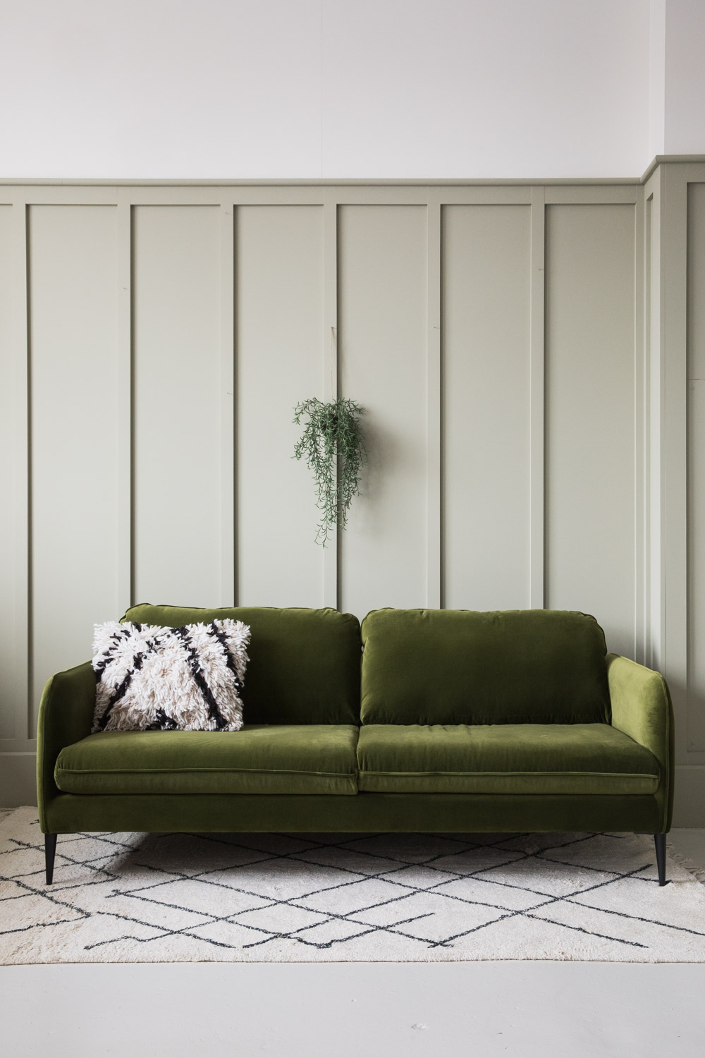 Broughton Velvet Sofa in Green