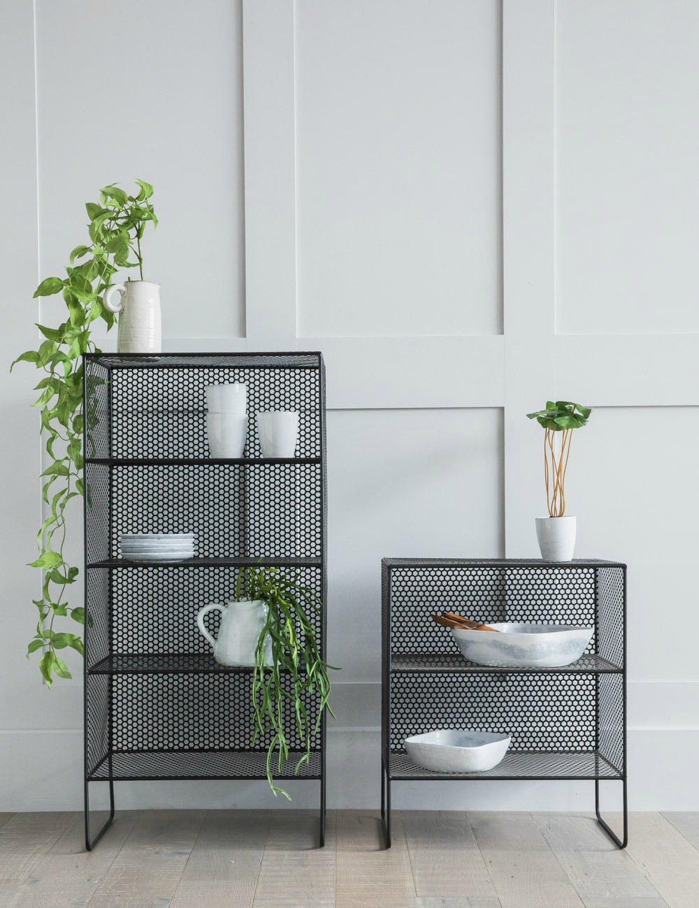Black Mesh Shelf, available in two sizes