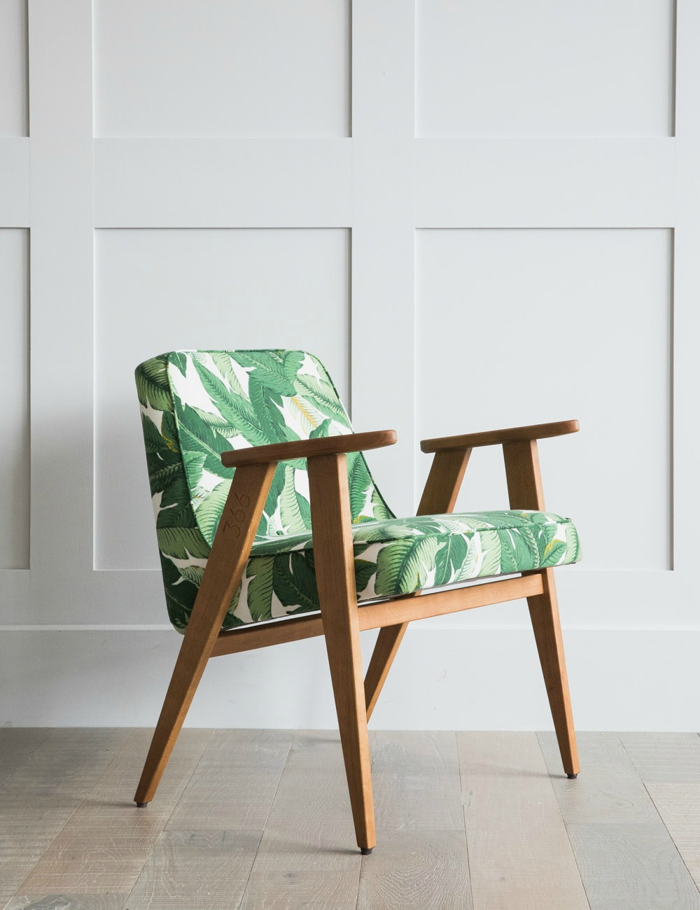 Part of the midcentury collection, Jozef Chierowski 366 Easy Chair in Deco Print.