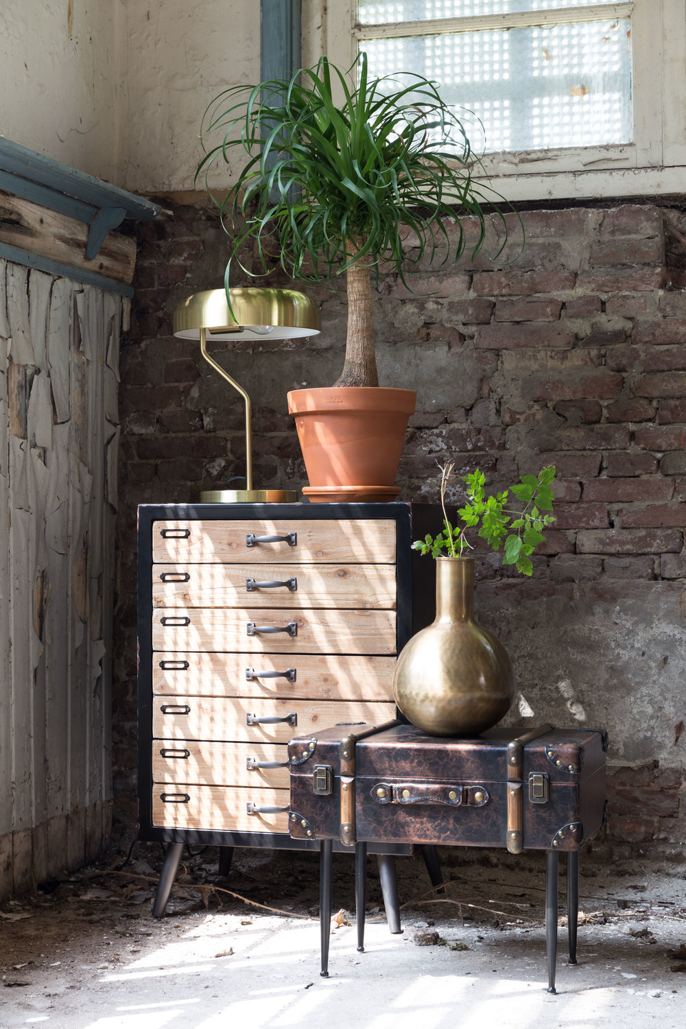 Vintage Luggage Side Table