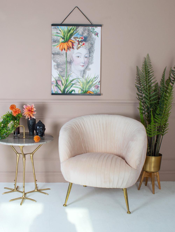 Marilyn Velvet Armchair - AUDENZA