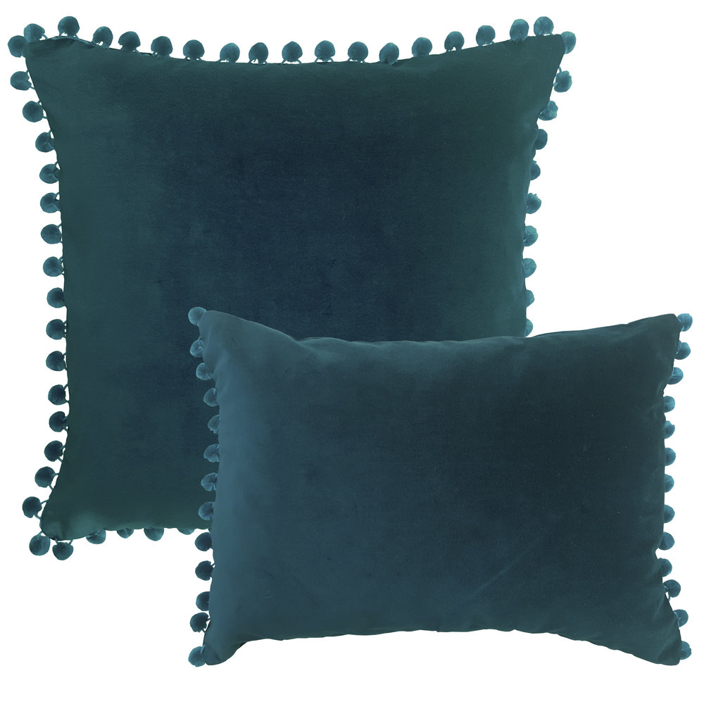Arabella Petrol Blue Velvet cushions - RAGGED ROSE LTD