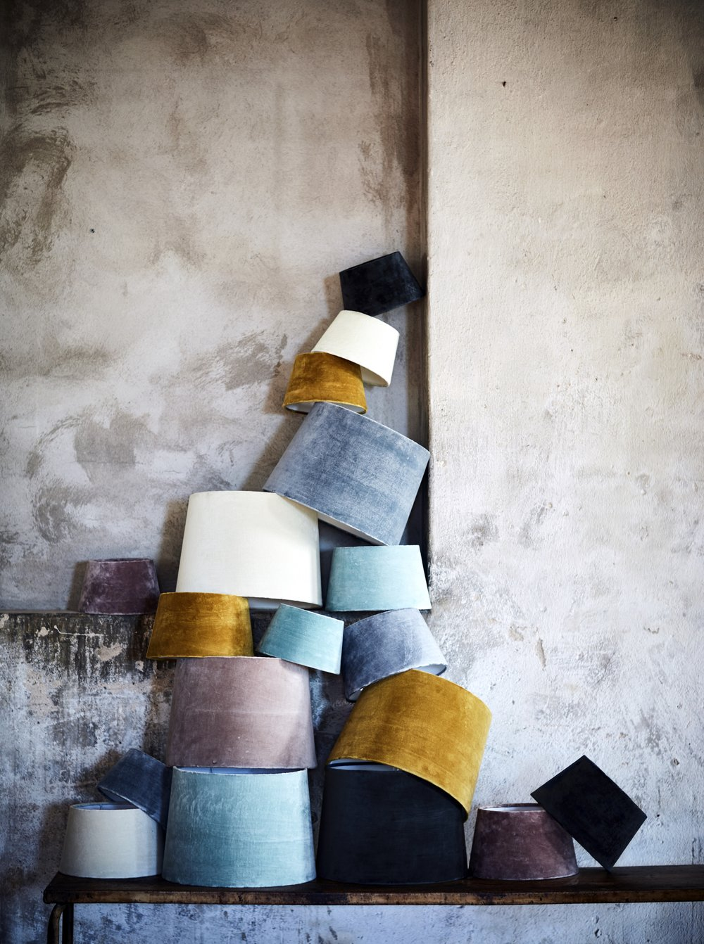 Velvet Lamp Shades - Abode Living