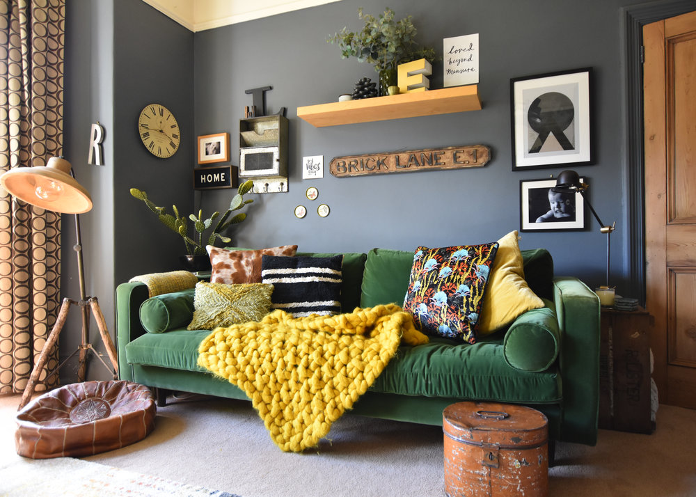 "Living Room Colors Green Couch nicola broughton-""the girl with the green sofa""blog homecan a sofa"