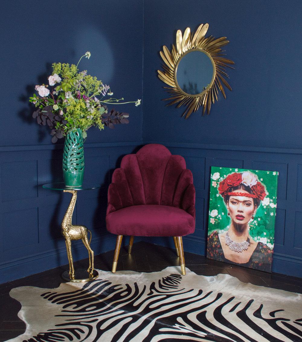 Sienna Velvet Shell Chair. RRP £499