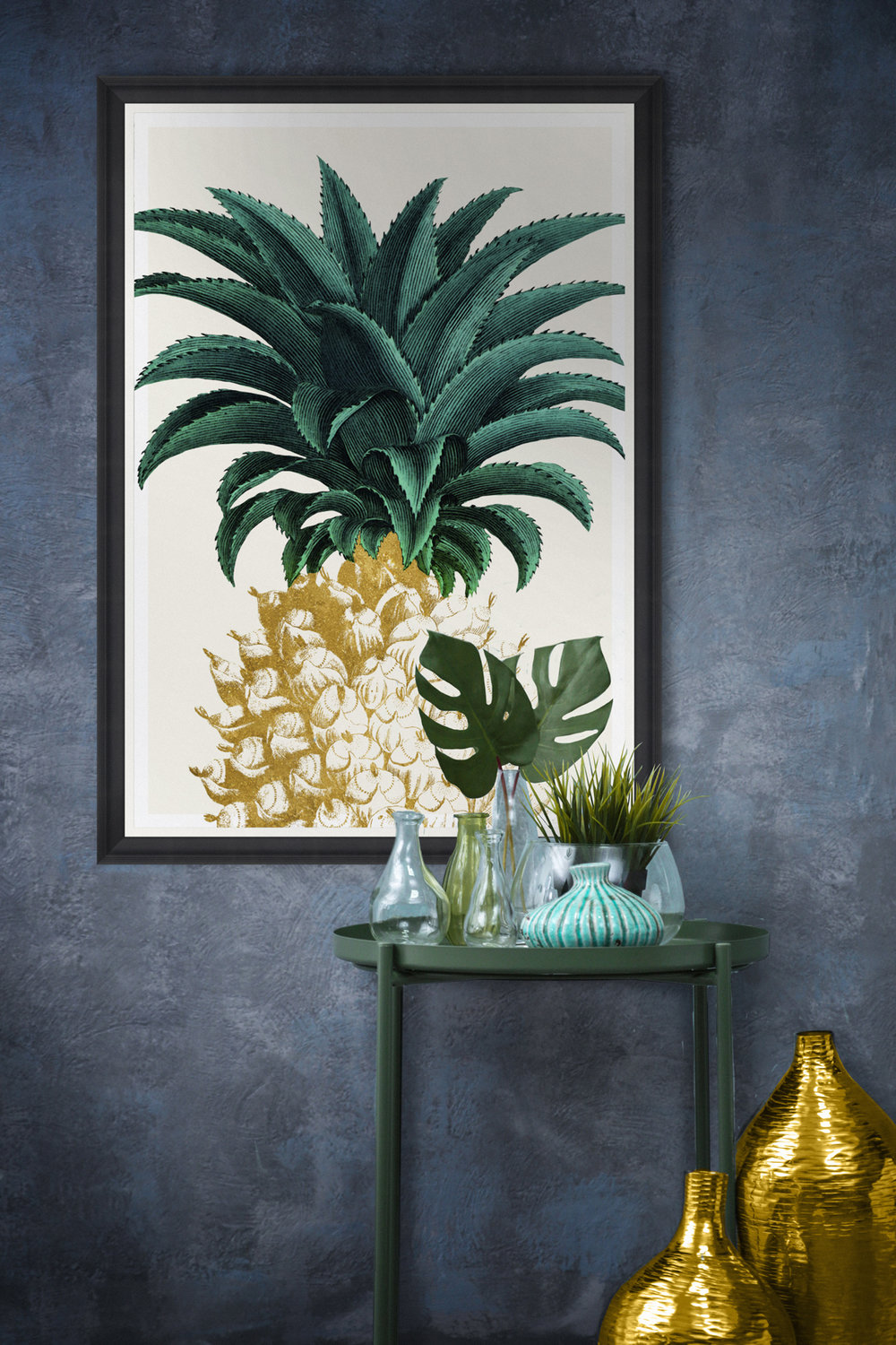 Pineapple Sweet Framed Wall Art by MINDTHEGAP.jpg
