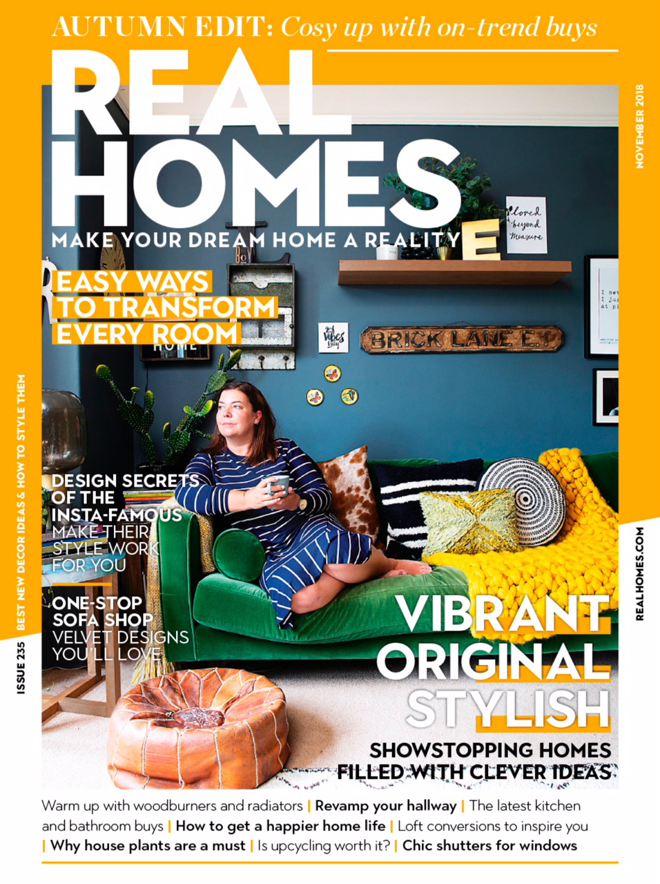 On The Front Cover of Real Homes Magazine -