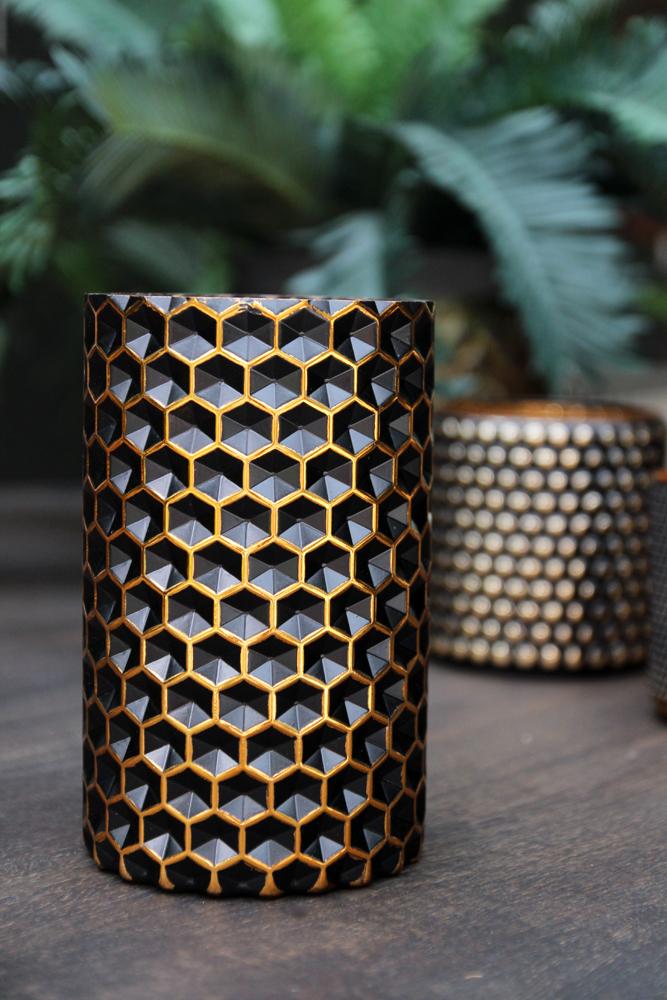 rockettstgeorge_black_gold_honeycomb_candle_holder_vase_tall.jpg
