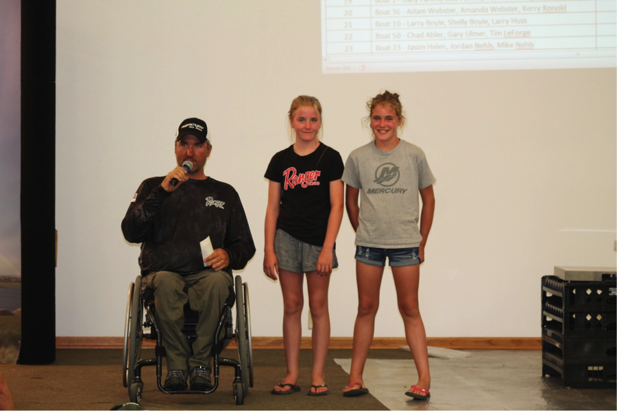 1st Place - Darrell Peters and his daughter's Kyra & Kadence won the tournament with a 2 day total weight of 32.86 pounds and were crowned Champions with a Check of $4,500.00.