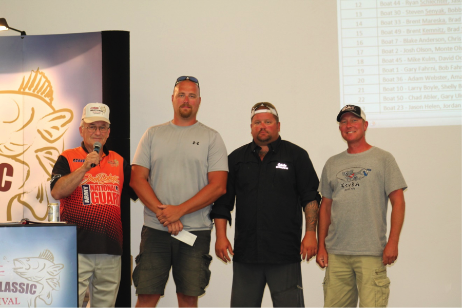 2nd Place - Second place was won by Nick Kampa, Bill Martian and Bob Sieh with 32.26 pounds only 6 ounces short of first place; they still received a check for $3,000.00.
