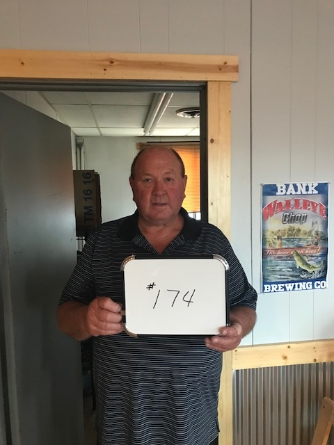 Larry Lutz of Akaska, SD drew the winning number this Monday morning at the Akaska Tavern & Bait Shop. Larry drew the number for Kim Pearson of Watertown, SD. Kim wins a Charter Arms Undercover Pistol. CONGRATULATIONS KIM.