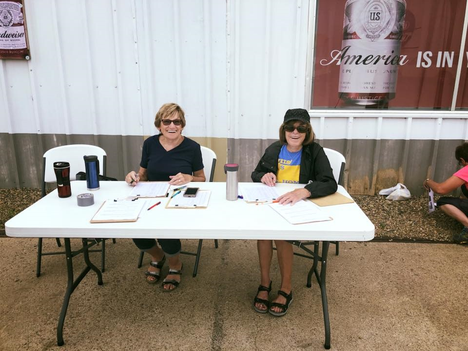 Jane Sorensen & Karen Hampton at Registration Desk..jpg