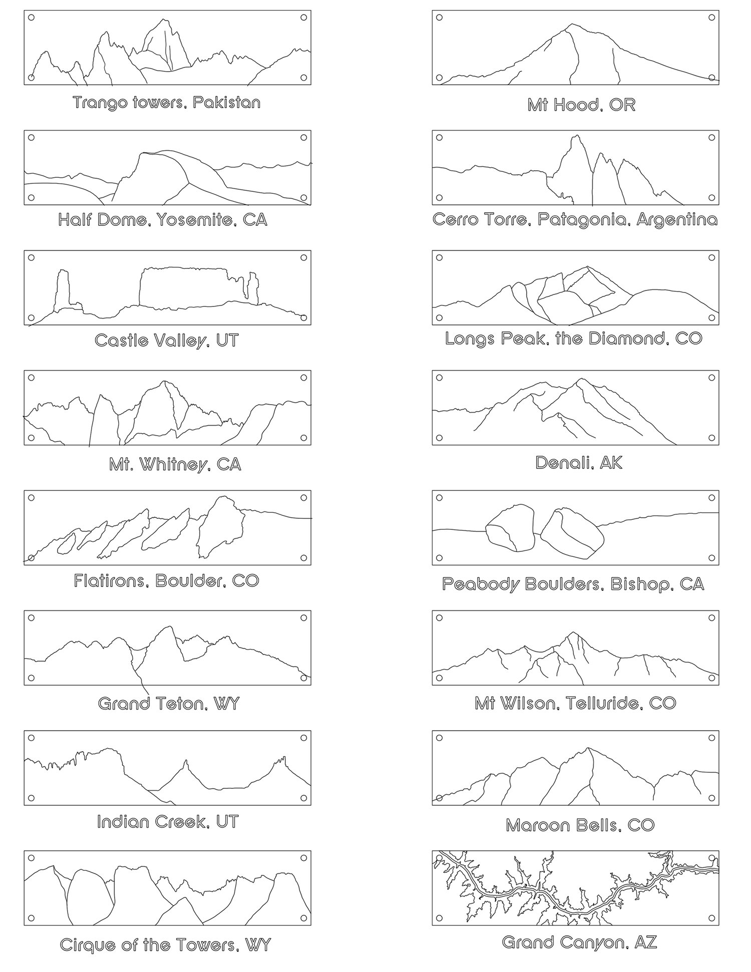 92930de1c77 Diamond Engraved Titanium Mountain Hat - Flat Brim — Splitter Designs