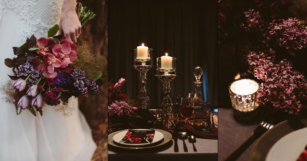 Three Strand Cord - Romance Noir floral styling