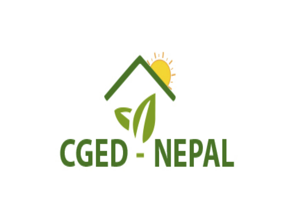 Centre for Green Economy Development (CGED-N) , Nepal, Asia:  An organization that wishes to build an economy that runs without dependence on fossil fuel.  To achieve this, CGED-N promotes nature-based solutions in the sectors of forest, water and climate change