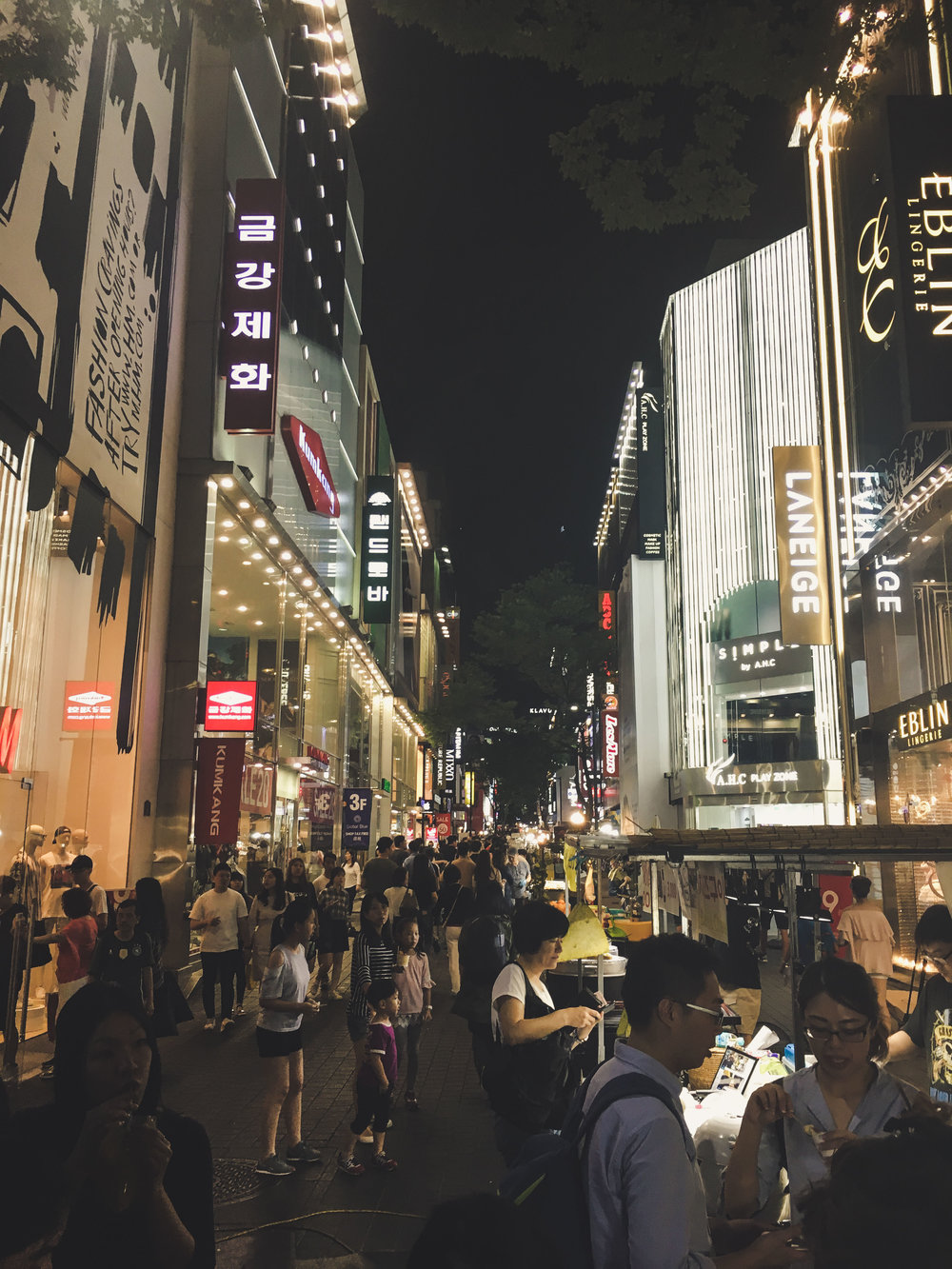 In the heart of Myeongdong