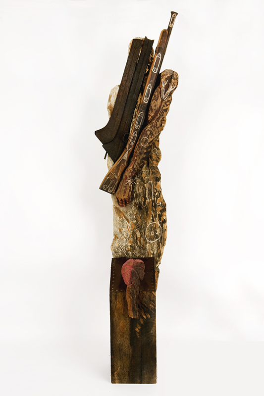 Monument to the Unknown Soldier, 1995. Polychrome wood and metal. 95 x 20 x 20 in.