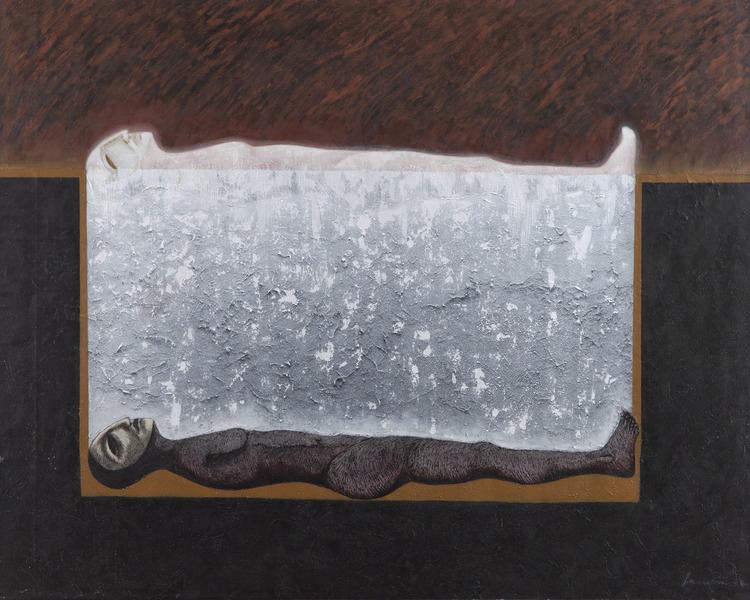 Oscar Rodríguez Lasseria, Inframundo (Infraworld), 2009. Mixed media on canvas, 47 1/4 x 59 in.