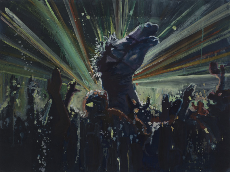 Armando Mariño, Crazy Horse at Disco, 2011. Oil on paper, 23 x 30 in.