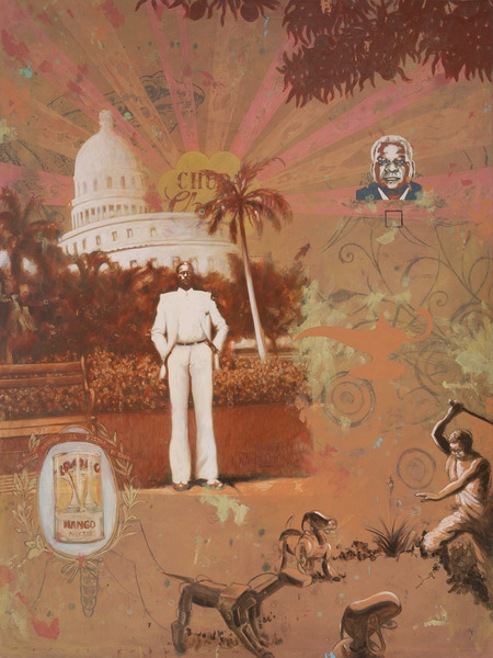 Alexis Esquivel, Héroe postcolonial (Postcolonial Hero), 2010. Acrylic on canvas, 77 x 57 1/2 in.