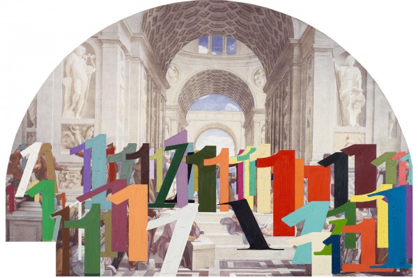 Stainless,  One of a Kind (School of Athens) , 2014. Digital chromogenic print, 55 x 78 in.
