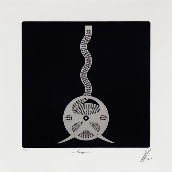 Seagram, from the series No Limits, 2013. Photolithograph with aluminum dusting, 20 1/2 x 20 1/2 in. Ed. 11/30.