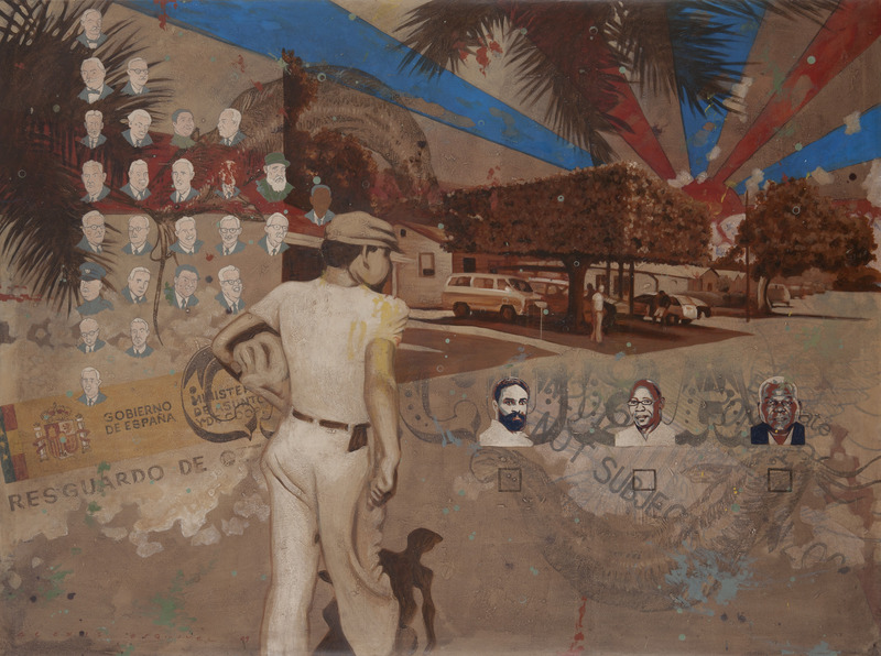 Ciudadano del futuro (Citizen of the Future), 2010. Acrylic on canvas, 57 1/2 x 76 3/4 in.