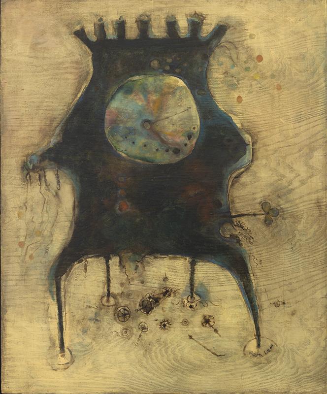 Reloj (Clock), 1960. Oil on plywood, 39 1/4 x 32 in.