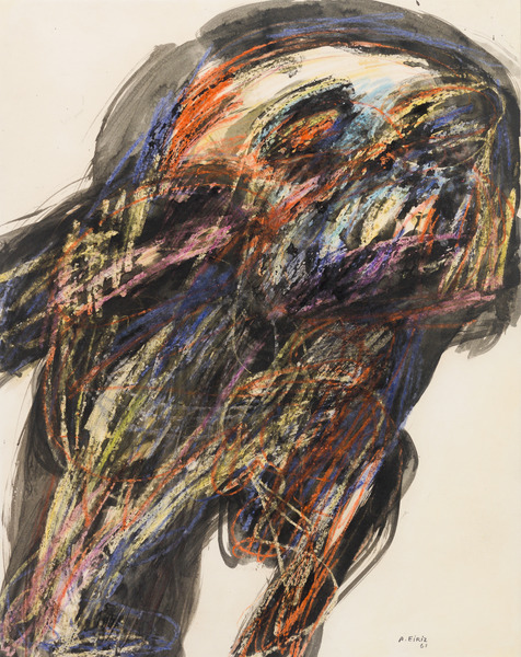 Vigilia (Wakefulness), 1967. Ink and oil pastel on heavy paper laid down on board, 28 1/4 x 22 1/2 in.