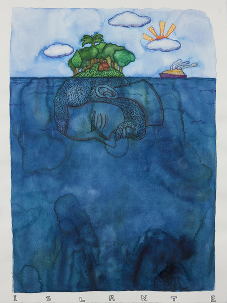 Islante (No. 2), 2008-2009. Watercolor and ink on paper, 30 x 22 in.