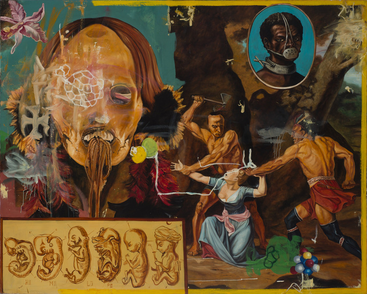 Sangre y honor (Blood and Honor), 2002. Oil on linen, 71 x 87 in.