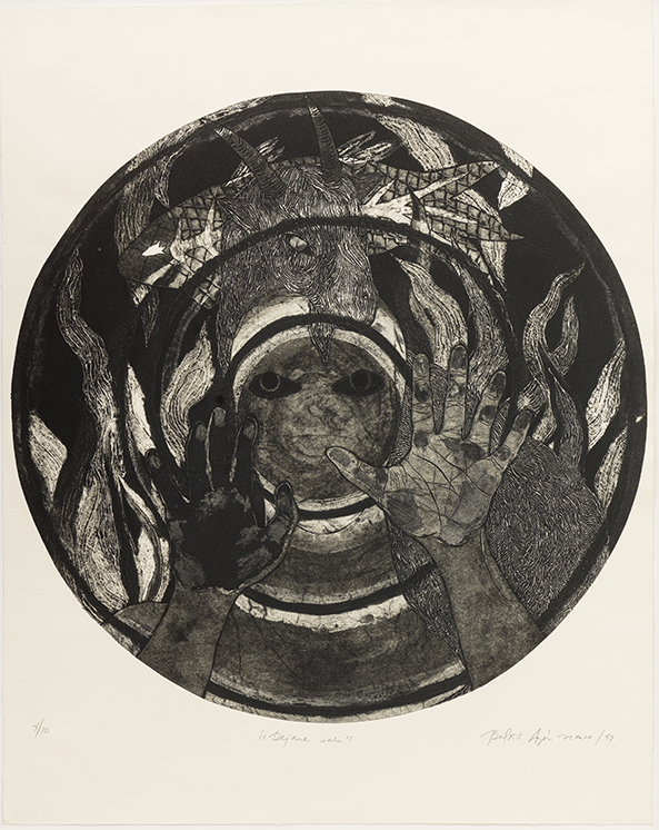¡¡Déjame salir!! (Let Me Out!!), 1997. Collagraph 37 x 29 1/2 in.