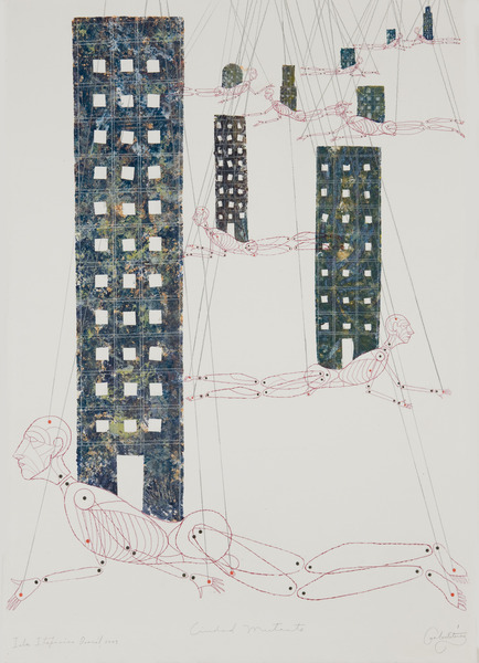 Ciudad mutante (Mutant City), 2003. Colored pencil and acrylic on paper. 39 1/4 x 27 1/2 in.