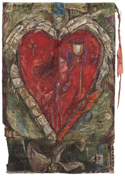 Árbol de la vida (Tree of Life), 2006. Mixed media on canvas, 55 1/2 x 37 1/2 in.