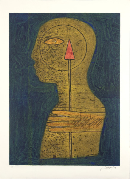Cupido (Cupid), 2008. Collagraph, 35 x 24 in. AP.