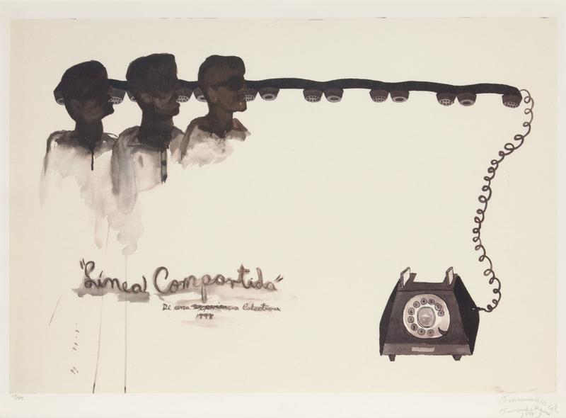 Línea Compartida, del portafolio Contemporary Prints from Cuba