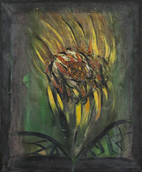 Girasol (Sunflower), 1996. Oil on canvas. 31 1/2 x 25 1/2 in.