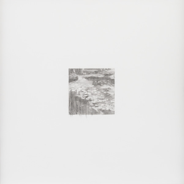 13 de diciembre de 2012, de la serie Diario (December 13th, 2012, from the series Diary). Graphite on paper. 15 3/4 x 15 3/4 in.
