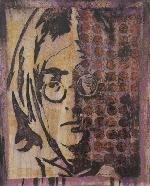 Lennon IV, 2005. Oil and acrylic on canvas. 38 3/4 x 31 1/2 in.
