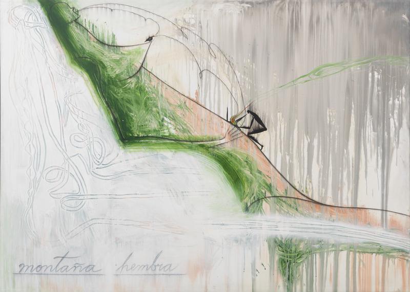 Montaña hembra (Female Mountain), 2004. Oil on canvas. 70 1/2 x 99 in.
