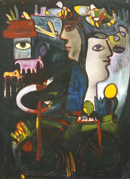 Te doy una canción (I Give You a Song), 1997. Acrylic on canvas. 36 x 26 5/8 in.